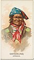 Geronimo, Apache, from the American Indian Chiefs series (N2) for Allen & Ginter Cigarettes Brands MET DP827994.jpg