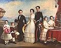 Geschwister der Kaiserin Elisabeth von Österreich auf der Veranda des Schlosses Possenhofen.jpg