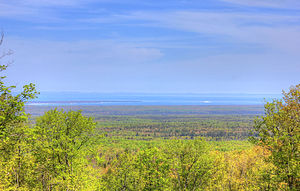 Mount Arvon - View from Mount Arvon to Lake Superior