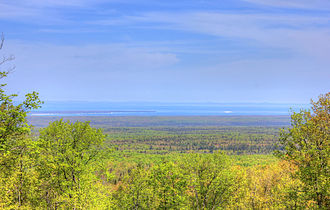 Mount Arvon - View from Mount Arvon to Lake Superior, May 2014