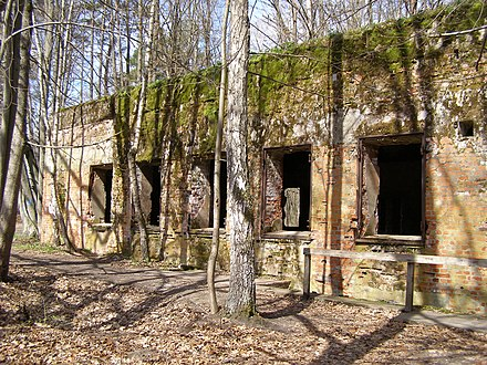 Remnants of the Wolf's Lair (Wolfsschanze), Adolf Hitler's first Eastern Front military headquarters where the 20 July assassination attempt occurred in 1944 Gierloz Wilczy Szaniec 53.jpg