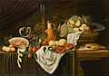 Gilliam Dandoy - Still life on a draped table.jpg