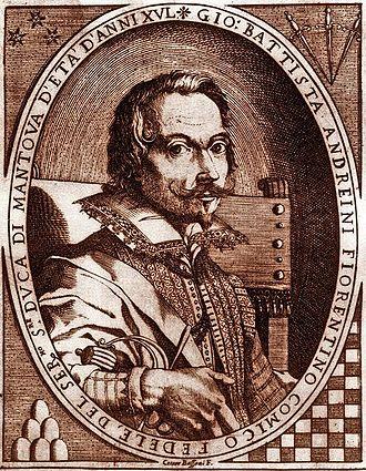 Giambattista Andreini - Portrait of Andreini aged 35 by Carlo Antonio Procaccini