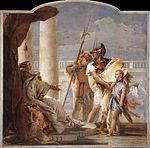 Giovanni Battista Tiepolo - Aeneas Introducing Cupid Dressed as Ascanius to Dido - WGA22337.jpg