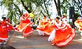 Girls dancing Joropo at the Warairarepano National Park.jpg