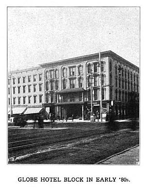 John Wilkinson (Syracuse pioneer) - Globe Hotel in the early 1880s