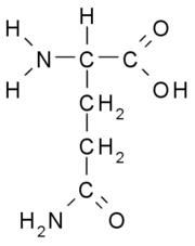 Estructura química de la glutamina