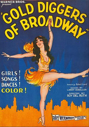 Gold Diggers of Broadway - theatrical release poster