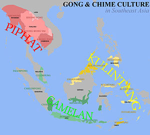 Kulintang - Map of kulintang music in Southeast Asia.