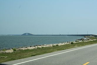 Dauphin Island Bridge - View of the bridge from SR-193.
