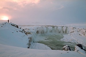 Góðafoss in Winter, Iceland
