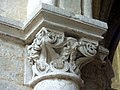 Gournay-en-Bray (76), collégiale St-Hildevert, chœur, 1ère grande arcade du nord, chapiteau côté ouest.jpg