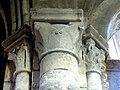 Gournay-en-Bray (76), collégiale St-Hildevert, collatéral sud du chœur, chapiteaux du 1er doubleau, côté nord.jpg