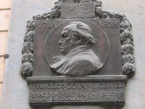 Afrancesado - Plaque commemorating Francisco Goya's exile to Bordeaux