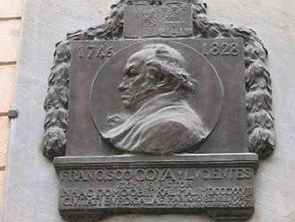 Afrancesado - Plaque commemorating Francisco Goya's exile to Bordeaux