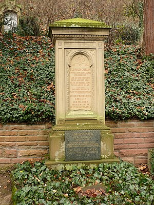 Leopold Gmelin - Leopold Gmelin's grave on the Mountain Cemetery in Heidelberg in the Dept. E