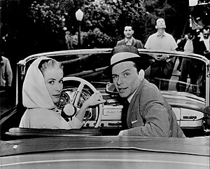 Frank Sinatra filmography - Sinatra and Grace Kelly on the set of High Society (1956)