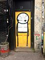 Graffiti in Shoreditch, London - Doorway by Stik (9422259821).jpg