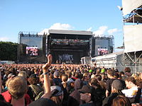 In Flames en Graspop en 2008.