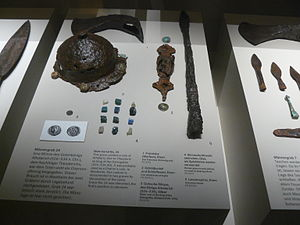 Migration Period spear - Weapons, including spears and lances from a grave of the migration period (6th century, Westheim, Germany)
