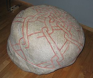 Grave orb - A grave orb in the Swedish Museum of National Antiquities in Stockholm