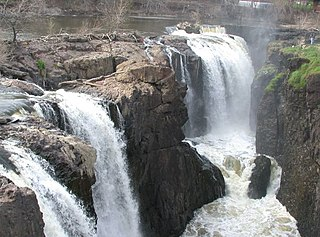 Great Falls (Passaic River) waterfalls on the Passaic River