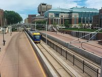 Green Line on Washington Avenue from pedestrian bridge.jpg