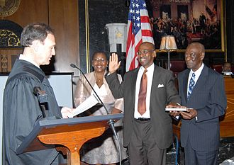 Joseph A. Greenaway Jr. - Greenaway sworn in by Justice Samuel Alito
