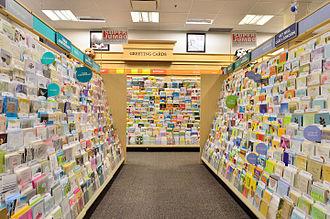 Greeting card - Greeting cards on display at retail.