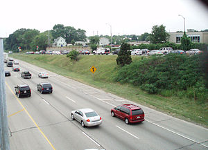 Ramp meter - Metered ramp on I-894 in the Milwaukee area.
