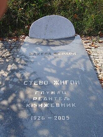 Stevo Žigon - Grave of Stevo Žigon in Belgrade