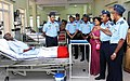 Group Captain V.K. Sashindran, HoD Medicine briefing the Chief of the Air Staff, Air Chief Marshal Arup Raha, during his visit to No. 7 Air Force Hospital, in Kanpur on July 08, 2014.jpg