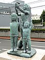 Group of children - Statues in Okayama City, Japan - DSC01744.JPG