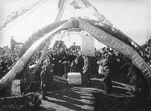 Lomaland - Laying of the cornerstone, February 23, 1897
