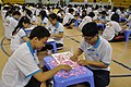 Guinness World Record 2011 - Largest Jigsaw puzzle - most pieces (students in progress 3).jpg