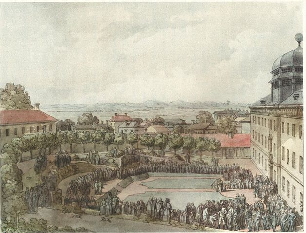 King Gustav III of Sweden visits the university in 1786