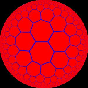 Order-3-4 heptagonal honeycomb - Image: H2 tiling 237 1