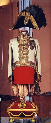 Kaiser Franz' Uniform im Heeresgeschichtlichen Museum (Quelle: Wikimedia)