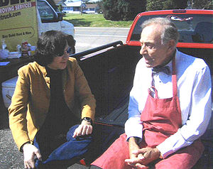 Herschell Gordon Lewis - Lewis (on the right) in 2003