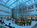 HK Ma Tau Wai 327 Prince Edward Road 聖德肋撒醫院 Saint Teresa's Hospital 九龍法國醫院 courtyard interior transparent ceiling visitors Feb-2014 002.JPG