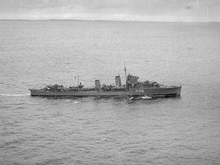 HMS <i>Antelope</i> (H36) A-class destroyer