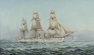 HMS Boadicea (1875) - Image: HMS Boadicea by Henry J Morgan