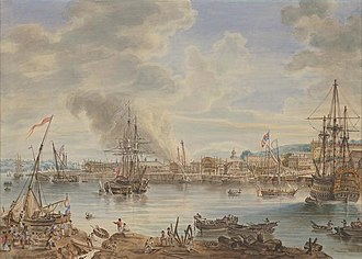 Chatham Dockyard - Chatham Dockyard in 1790 (by Nicholas Pocock)