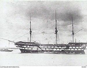 HMS Frederick William - Image: HMS Worcester AWM 302501