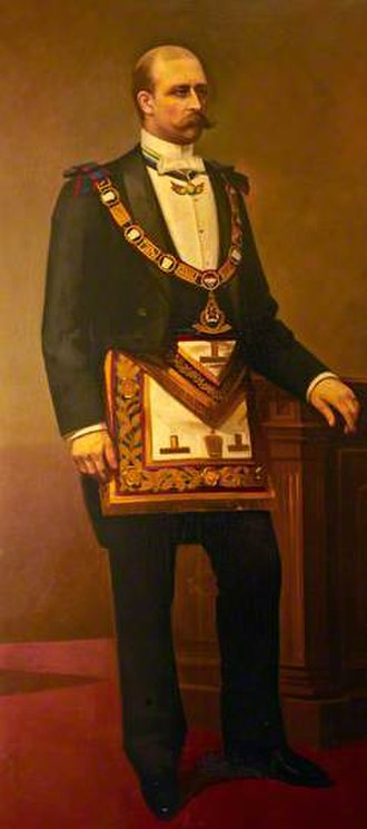Prince Arthur, Duke of Connaught and Strathearn - Prince Arthur wearing Masonic regalia.