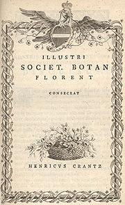Crantz's Classis cruciformium..., 1769