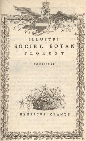Heinrich Johann Nepomuk von Crantz - Classis cruciformium emendata cum figuris aeneis in necessarium instit. rei herbariae supplementum (1769)