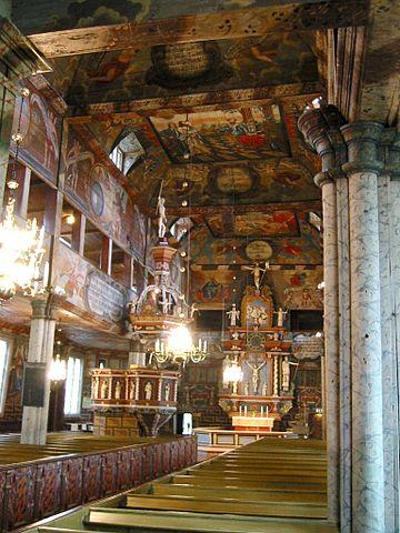 Innenraum der Kirche von Habo