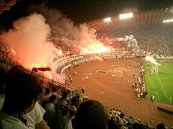 Hajduk Split and Dinamo Zagreb derby