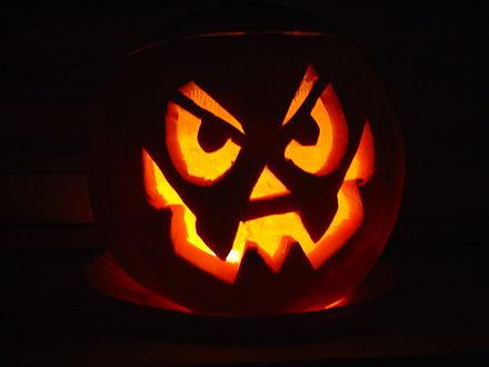 citrouille illumine pour halloween